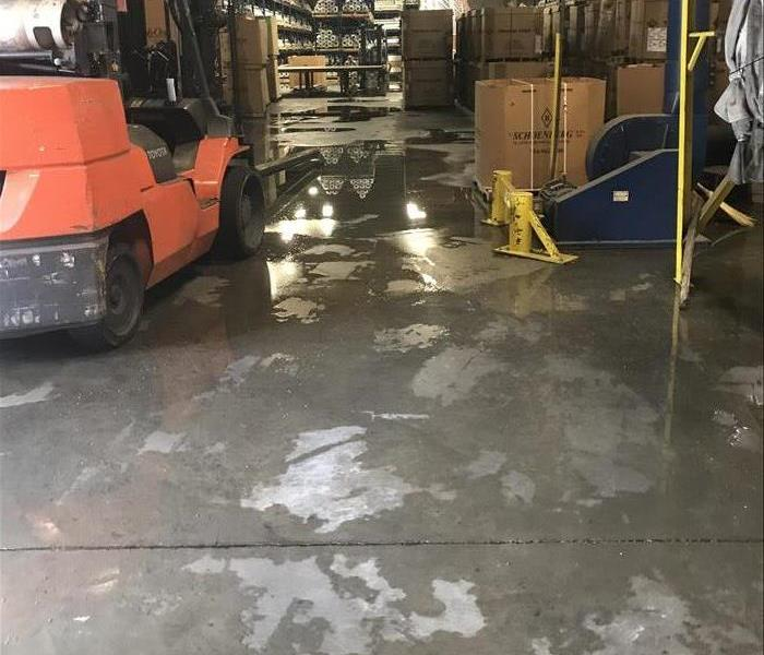 Enhanced Lighting In A Commercial Warehouse Flood In Lancaster South Carolina After