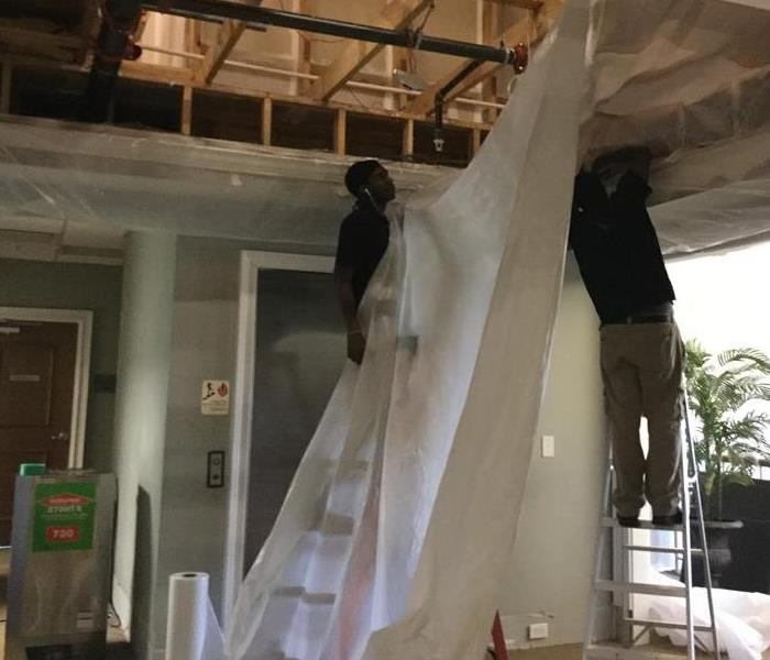 Floor to Ceiling Water Damage at a Home in Lugoff South Carolina